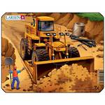 Larsen Puzzle Construction Vehicles Mini Front Loader (7pc)