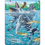 Larsen Puzzle Humpback Whales in a School of Herrings (140pc)