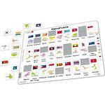 Larsen Puzzle Memo Asia/Pacific Flags & Capitals