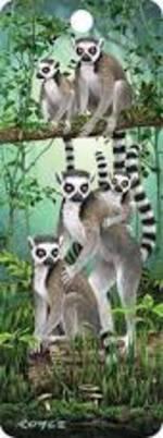 3D Bookmark - Lemurs