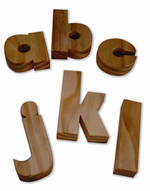Wooden Letters Lowercase