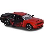 Majorette Racing Cars Dodge Challenger SRT Demon Flames Red