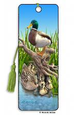 3D Bookmark - Mallards