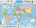 Larsen Tray Puzzle - The World 107 pieces