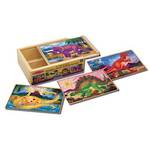 Melissa & Doug Dinosaur Jigsaw Puzzles in a Box (12pc)