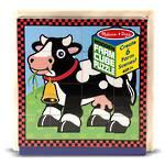 Melissa & Doug Wooden Cube Puzzle Farm 16pc
