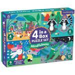 Mudpuppy 4 in a Box Puzzle: Mindfulness (31pc)