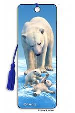 3D Bookmark - Polar Bears
