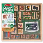 Melissa & Doug Stamp A Scene Rain Forest Wooden Stamps