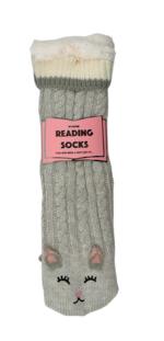 Reading Socks - Grey Cat Women