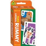 School Zone Card Game Farm Animal Rummy