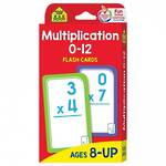 School Zone Flash Cards, Multiplication 0-12
