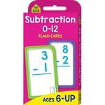 School Zone Flash Cards, Subtraction 0-12