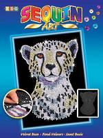Sequin Art Snow Cheetah