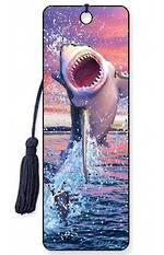 3D Bookmark - Leaping Shark