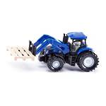 Siku 1487 Tractor with fork for pallets and pallet