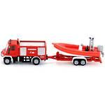 Siku 1636 Mercedes Unimog Fire Truck with Rescue Boat