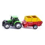 Siku 1676 Deutz-Fahr Tractor with Pottinger Loader Wagon
