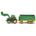Siku 1843 John Deere with Front Loader and Trailer