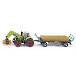 Siku 1946 Claas Axion 850 with Front Loader & Trailer