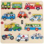 ELF Wooden Peg Puzzle Transport