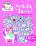 Unicorn Magic Activity Book with Puffy Stickers
