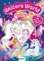 Puffy Sticker Jewel Unicorn World