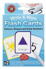Write & Wipe Flashcards Colours, Shapes and Early Numbers