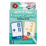 Write & Wipe Flashcards Addition W/Marker