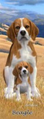 3D Bookmark - Beagle