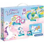 Clementoni I believe in Unicorns 4 in 1 games and puzzle pack.