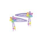Flower over a Rainbow Slide Hairclips