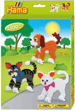 Hama  Boxed Set Cats & Dog 2000 Beads H3433