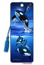 3D Bookmark - Orcas