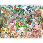 Larsen Tray Puzzle - Happy Farm Selfie 33 pieces
