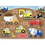 Melissa & Doug Peg Puzzle - Construction Site