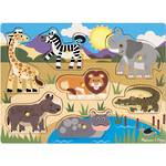 Melissa & Doug Wooden Peg Puzzles - Safari