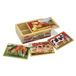 Melissa & Doug Wooden Jigsaw Puzzles 4 In A Box - Farm