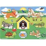 Melissa & Doug Wooden Peg Puzzles - Pets