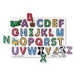 Melissa & Doug Lift & See Peg Puzzle Alphabet