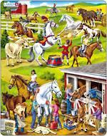 Larsen Tray Puzzle - Horses 50 pieces