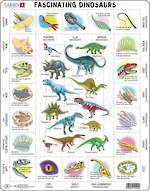 Larsen Tray Puzzle - Fascinating Dinosaurs