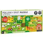 Follow & Spot Finger Maze Puzzle 10 Piece At The Farm