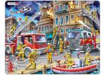 Larsen Tray Puzzle - Firefighters 45 pieces