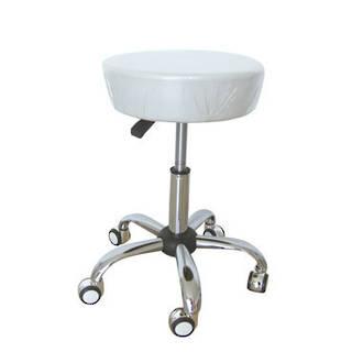 Beautician Stool white (Bigger Seat)