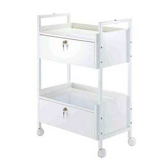 Two Tier Trolley - Double Drawer