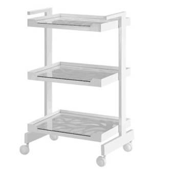 3-Tier Metal Frame With Glass Shelf