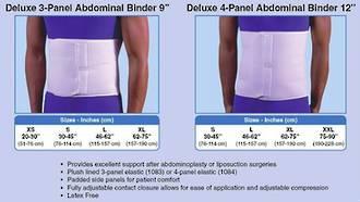 "9"" Deluxe Abdominal Binder - White, Size XS"