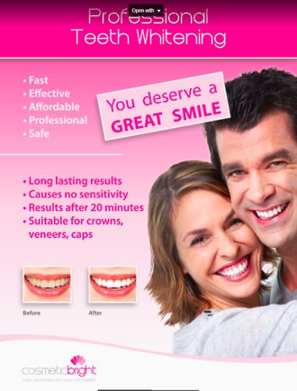 Cosmetic Bright Pro System Poster A3