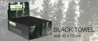 Bio Towel Black 40cmx70xm Pack 50